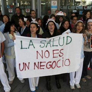 manifestación de empleados de sanidad en Hospital Infanta Sofia