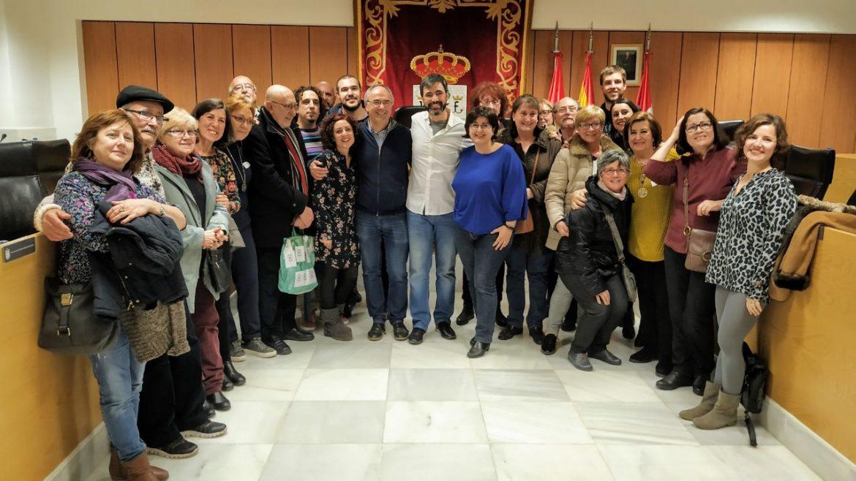 Miembros de Izquierda Independiente en el salón de Plenos del Ayuntamiento de San Sebastian de los Reyes