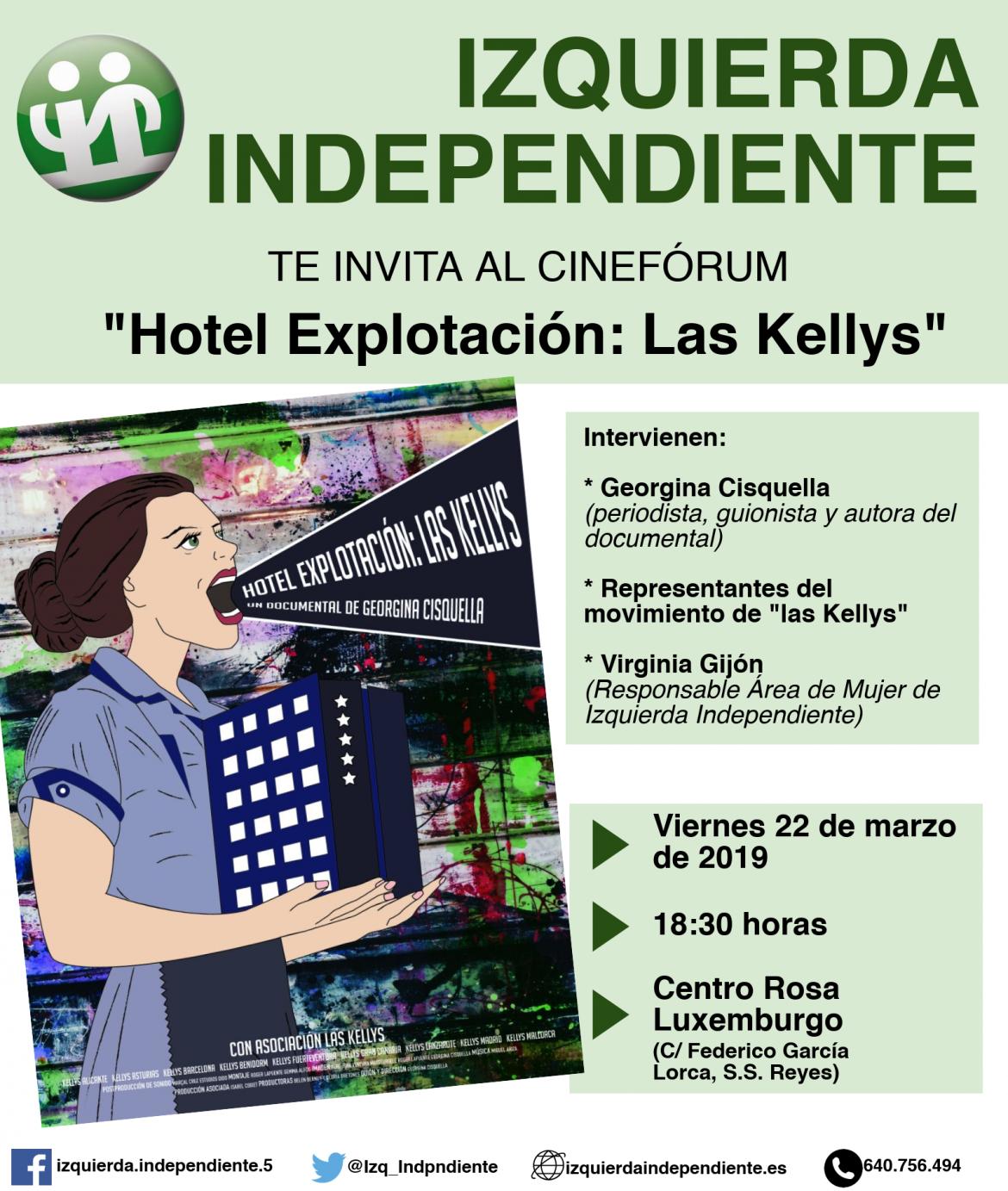 """Cinefórum """"Hotel Explotación: Las Kellys"""""""