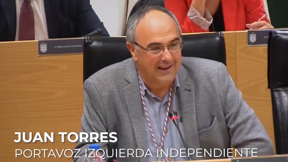 Canal Plenos - Juan Torres, portavoz de Izquierda Independiente