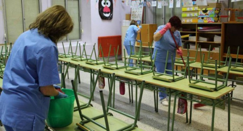 Servicio de limpieza en colegios de Sanse