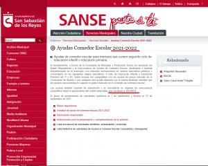 Anuncio de ayudas para becas de comedores escolares de 300.000 € para 2021-2022